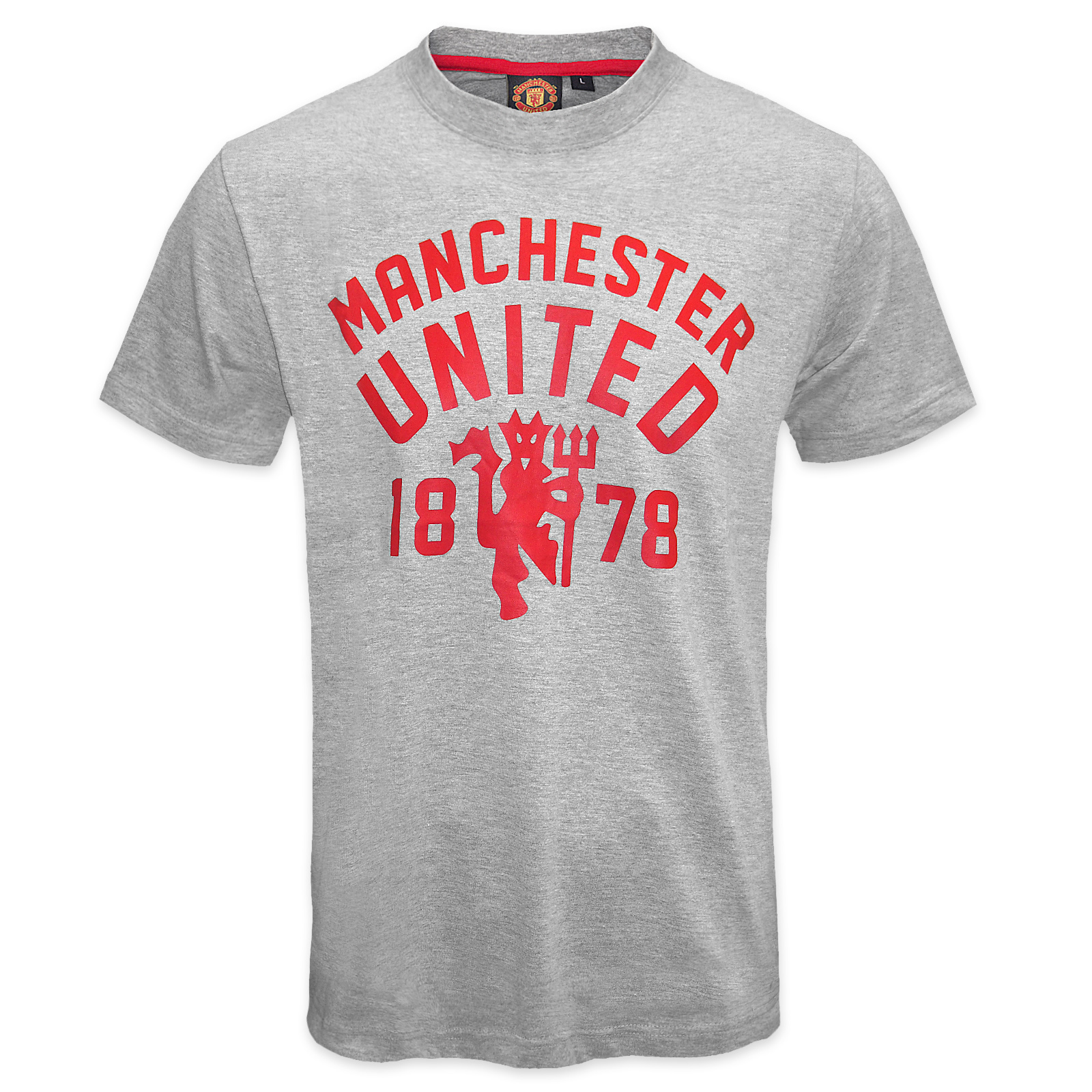 manchester united fc official football gift mens devil t. Black Bedroom Furniture Sets. Home Design Ideas