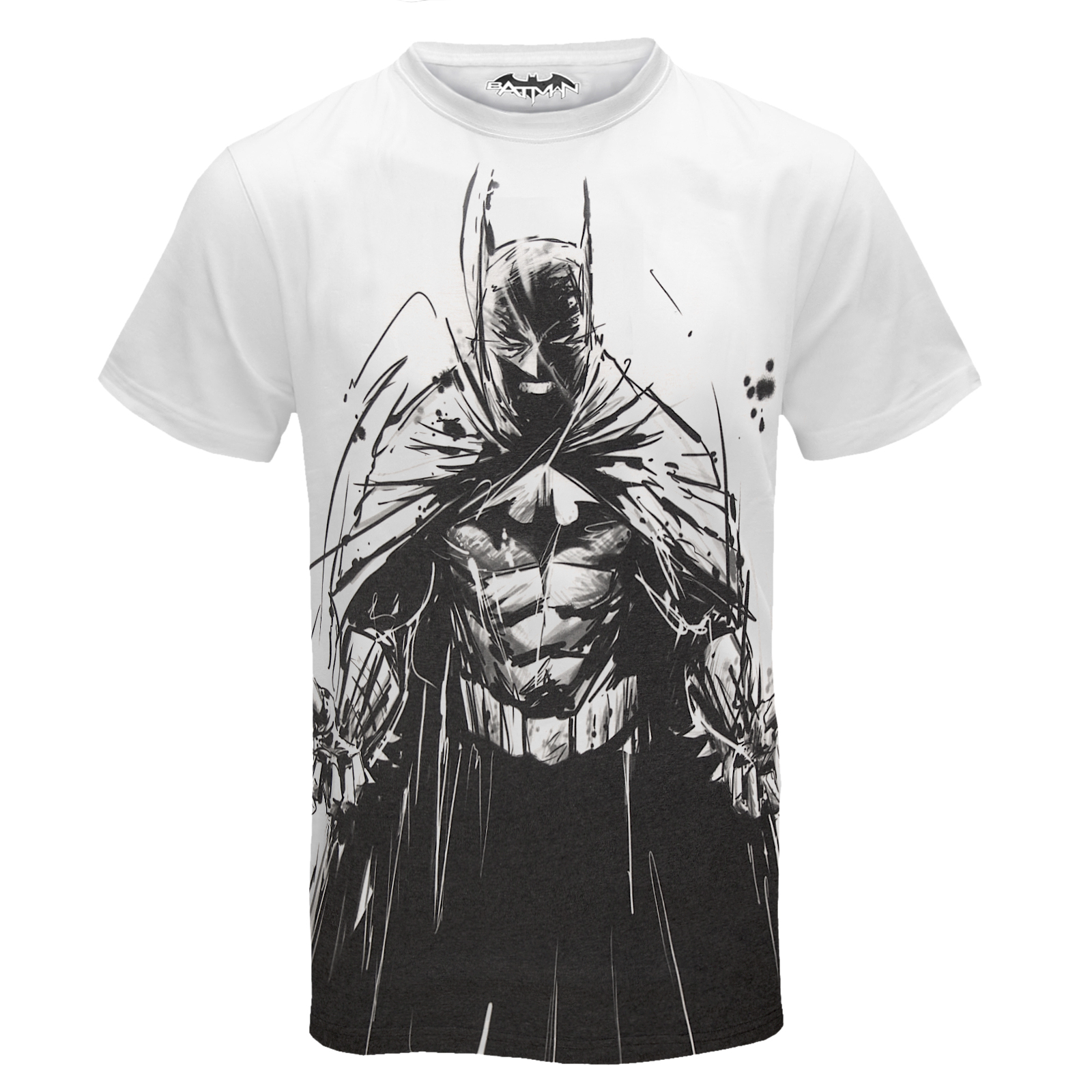 T shirt white ebay - Dc Comics Batman Official Gift Mens Sublimation T