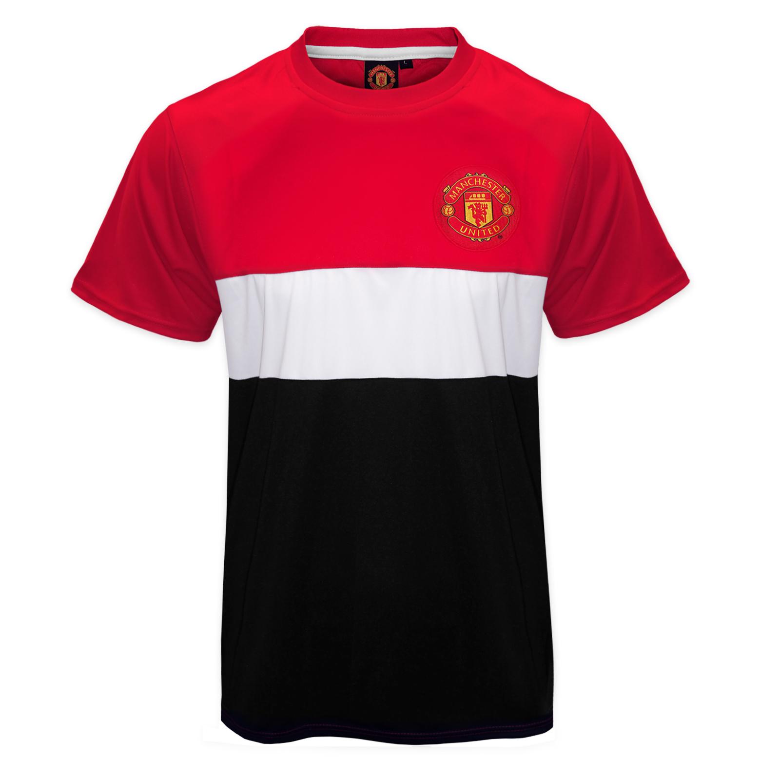 manchester united football club official soccer gift mens poly kit t shirt ebay. Black Bedroom Furniture Sets. Home Design Ideas