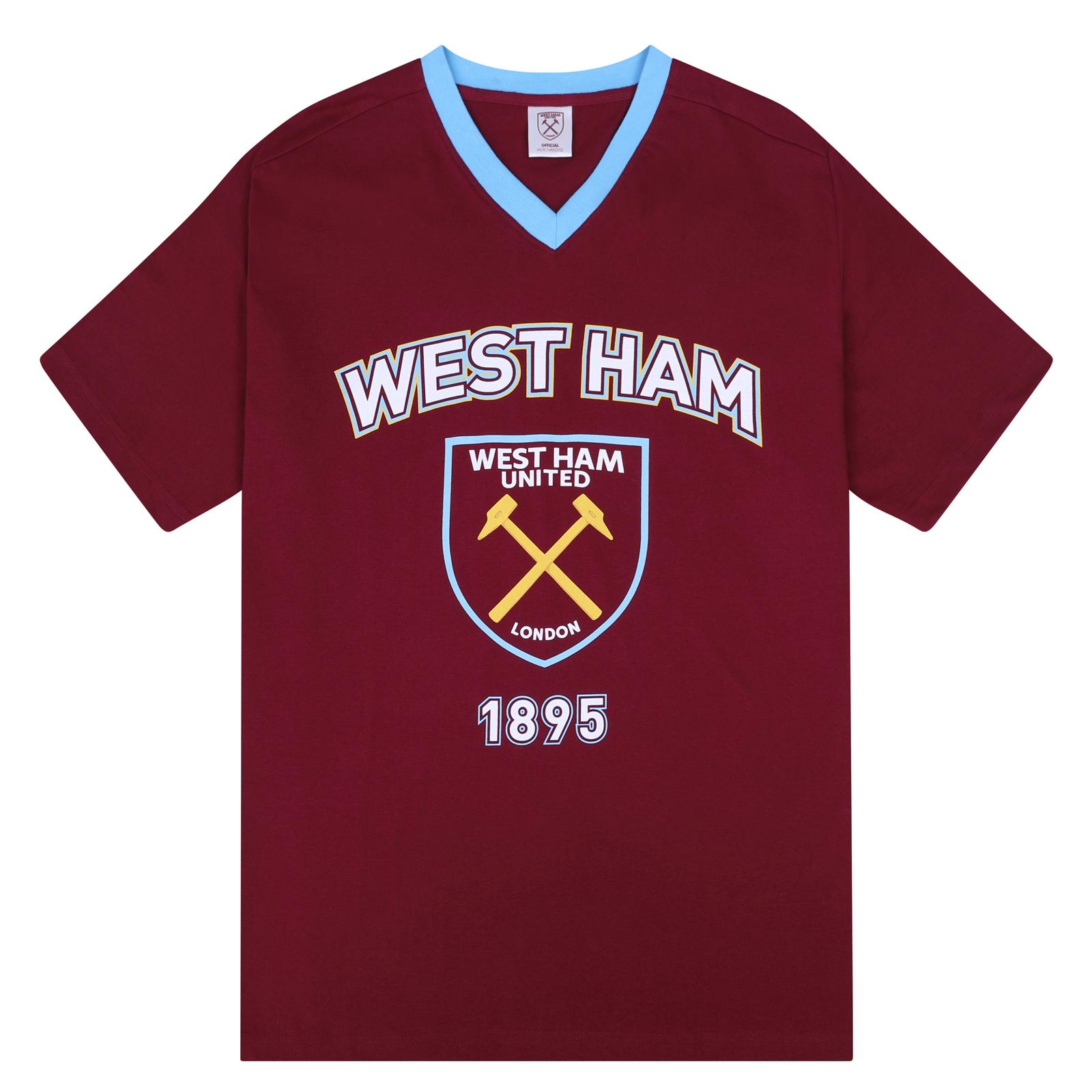 West Ham United FC Ufficiale Calcio Regalo Da Uomo Corto Pigiama Abbigliamento