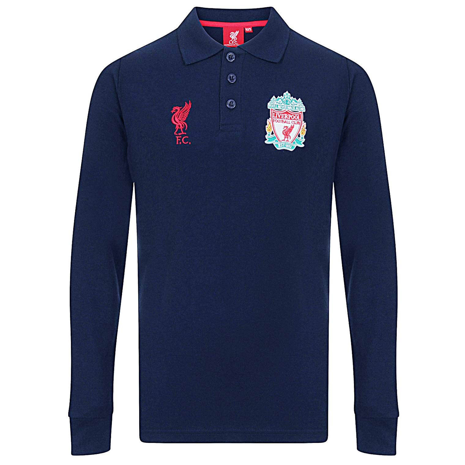 Liverpool football club official soccer gift boys long for Long sleeved polo shirts for boys
