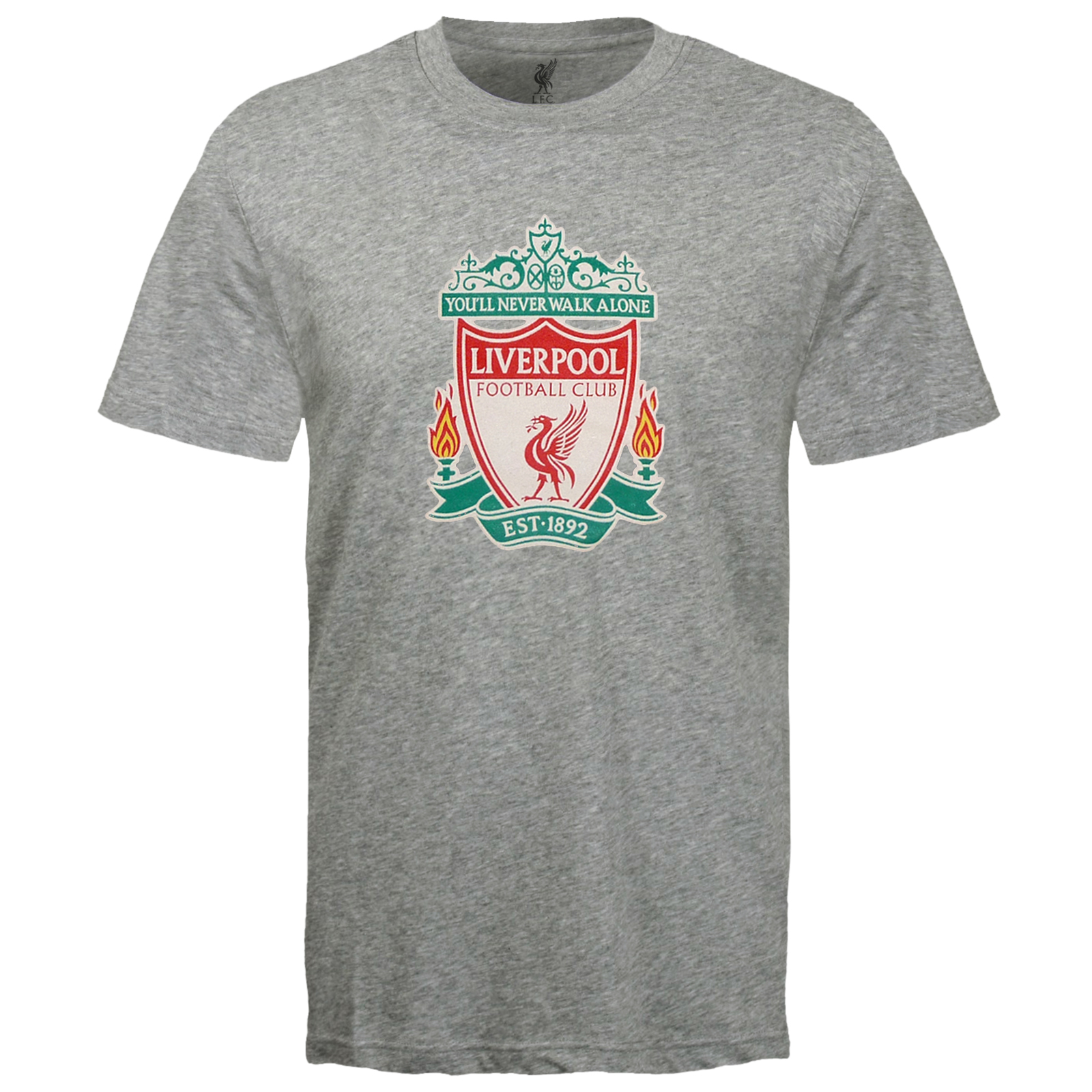 Liverpool football club official soccer gift mens crest t