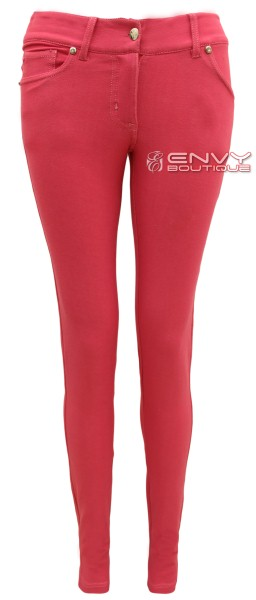 NEW LADIES SKINNY FIT COLOURED STRETCH JEANS WOMENS JEGGINGS TROUSERS ...