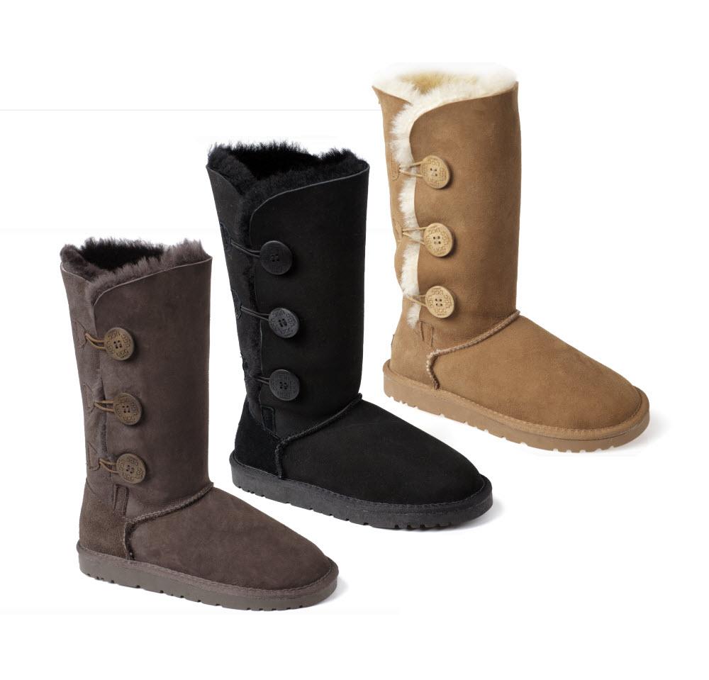 ozwear ugg premium 3 button long boots ebay