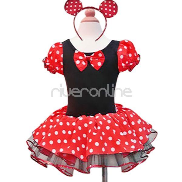 t t tanzkleider minnie mouse kost m ballet gr 98 104 110. Black Bedroom Furniture Sets. Home Design Ideas
