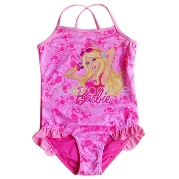 barbie m dchen rosat ne badeanzug bikini 98 104 110 116 122 128 134 140 bademode ebay. Black Bedroom Furniture Sets. Home Design Ideas