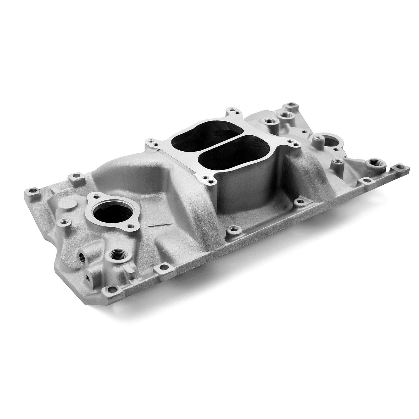 Take-Off Chevy SBC 350 Holeshot Vortec Intake Manifold Satin