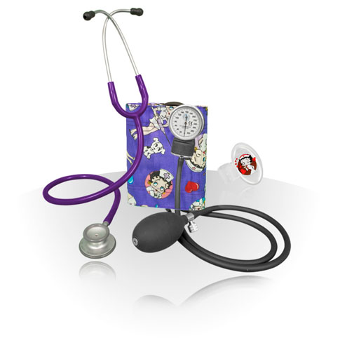 Classic-Stethoscope-Sphygmomanometer-Kit-Betty-Boop-Hearts