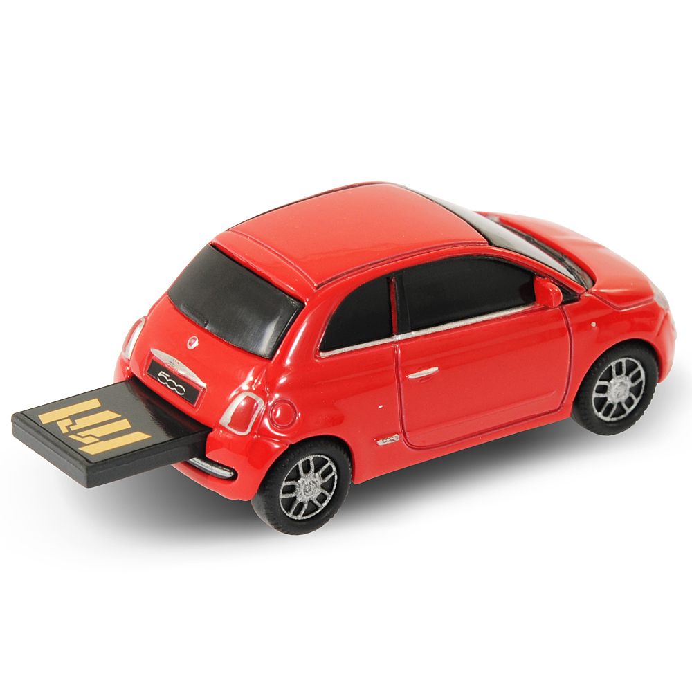 fiat 500 car usb memory stick flash drive 4gb red ebay. Black Bedroom Furniture Sets. Home Design Ideas