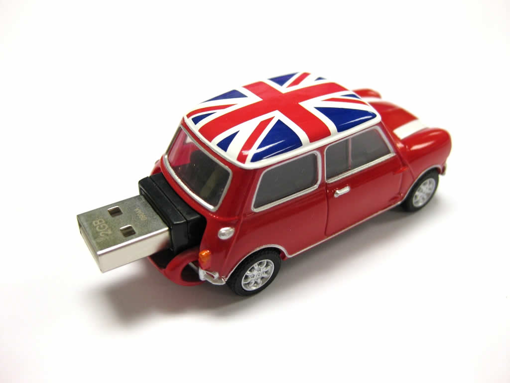 classic mini cooper car usb memory stick 4gb red with. Black Bedroom Furniture Sets. Home Design Ideas