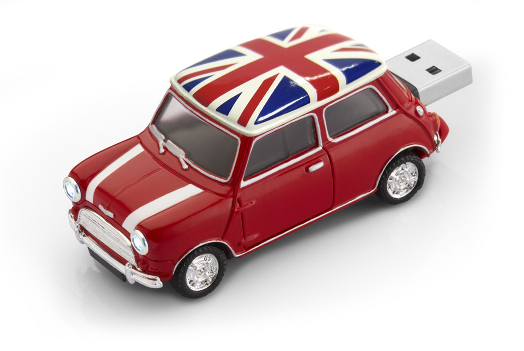 Classic Mini Cooper Cl 233 M 233 Moire Usb Voiture 4gb Rouge