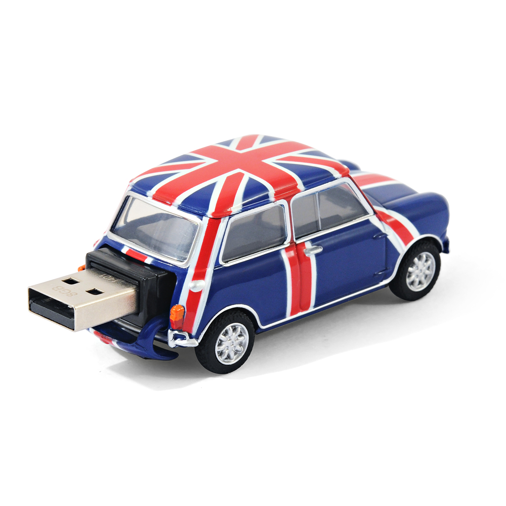 Classic Mini Cooper Car Usb Memory Stick 8gb Blue