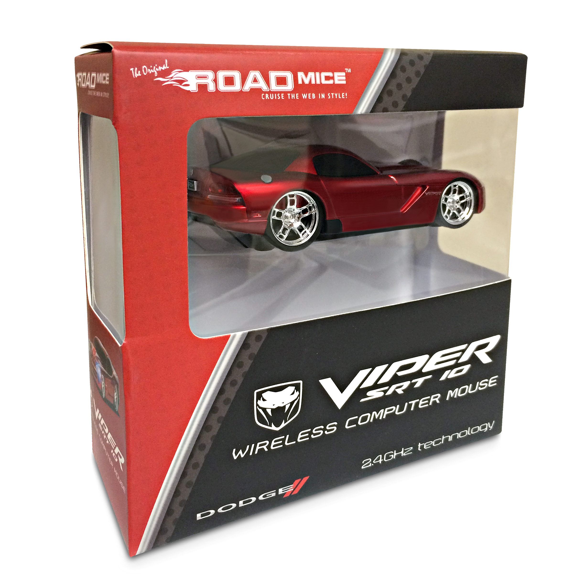 Road Mice Dodge Viper Car Wireless Computer Mouse - Red