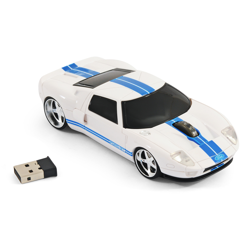 road mice ford gt40 gt car wireless computer mouse white. Black Bedroom Furniture Sets. Home Design Ideas