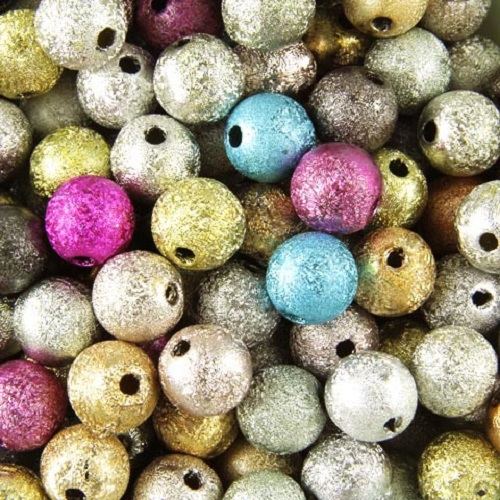 Acrylic-STARDUST-Metallic-Glitter-BEADS-Choose-4mm-6mm-8mm-10mm