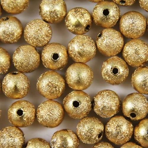 Acrylic STARDUST Metallic Glitter BEADS - Choose 4mm, 6mm, 8mm & 10mm