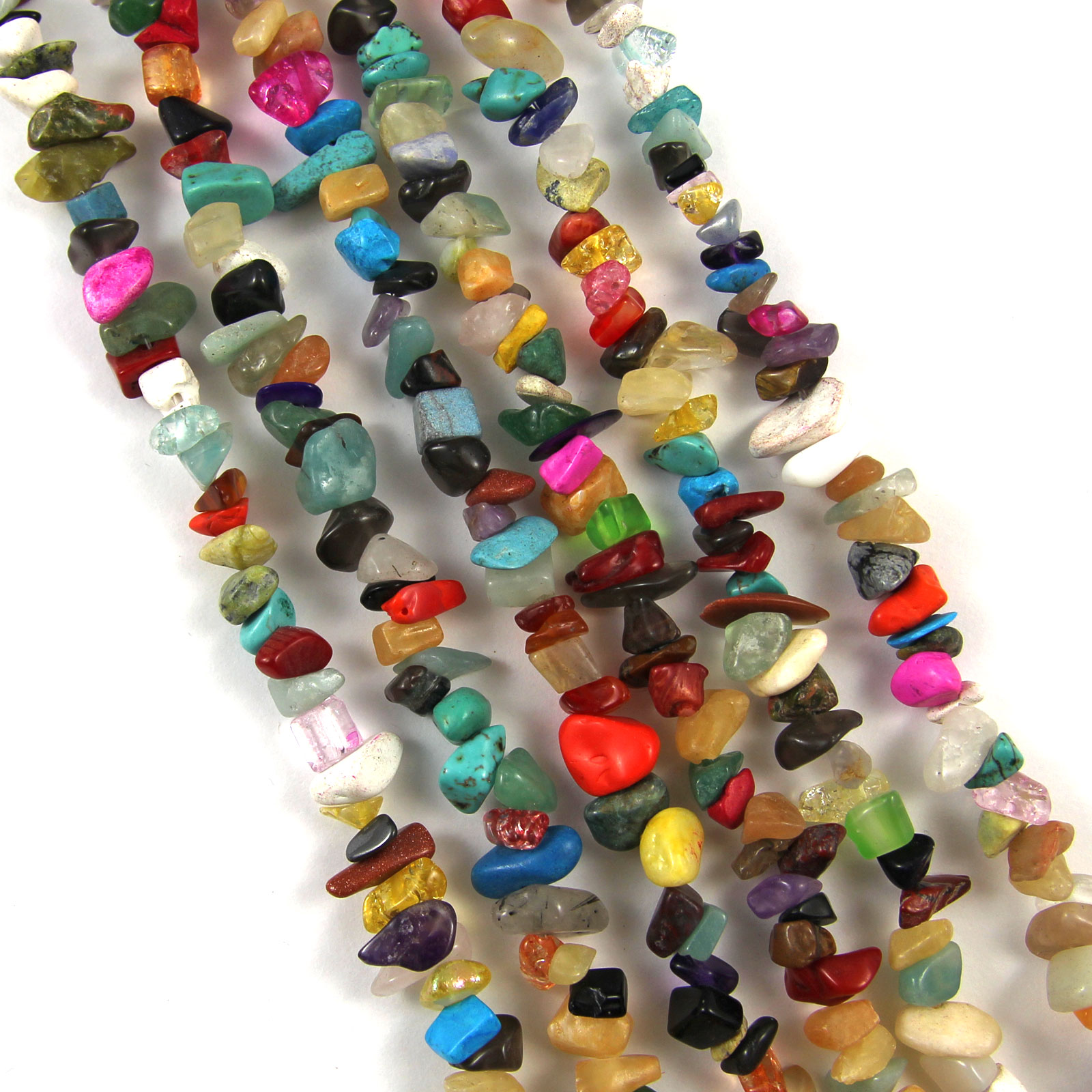 36-Strand-GEMSTONE-Crystal-Tumble-CHIP-BEADS-5-9mm-300-Beads