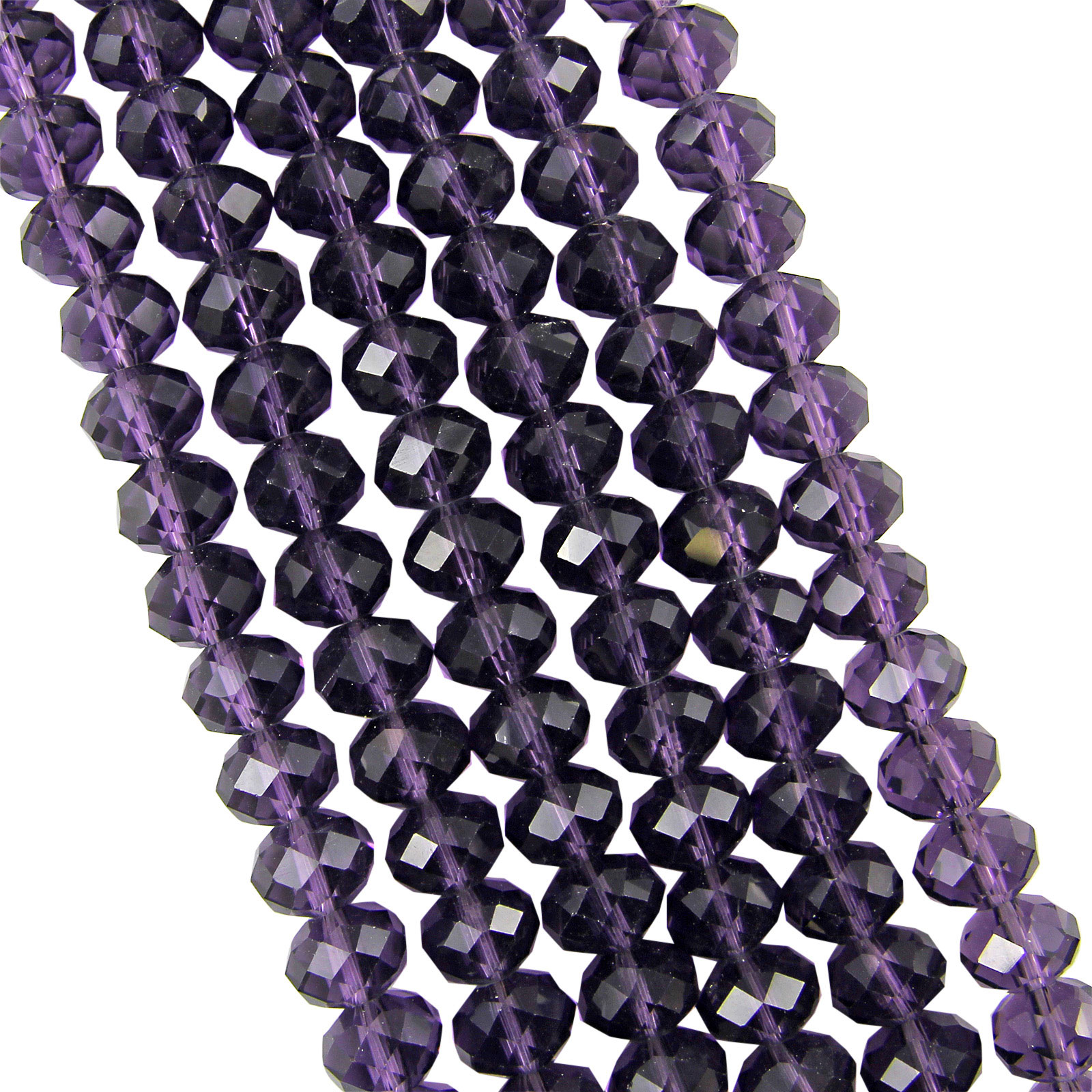 Crystal Bead Beads: FACETED RONDELLE CRYSTAL GLASS BEADS 4x3mm 6x4mm 8x6mm