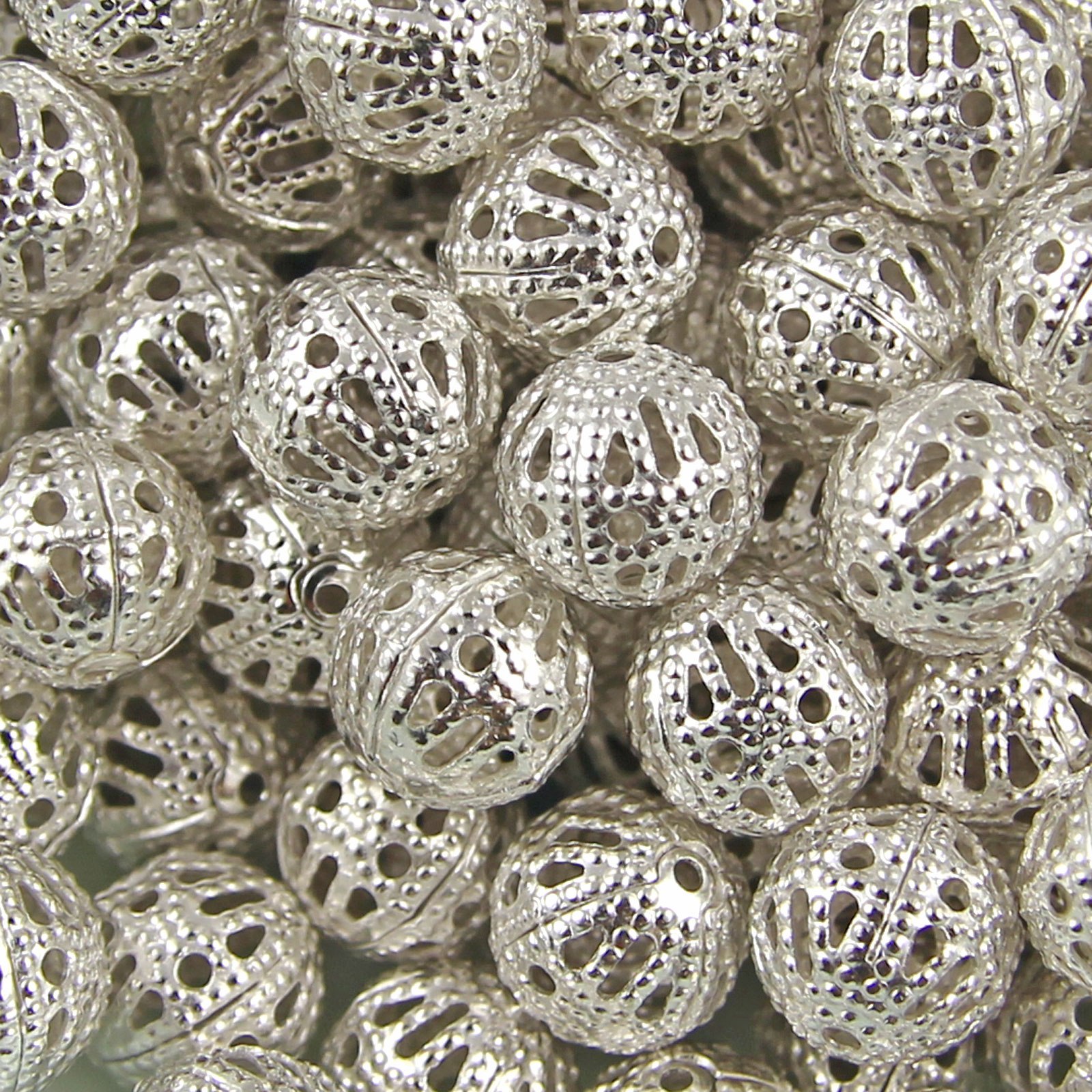 GOLD-SILVER-PLATED-Metal-FILIGREE-Spacer-BEADS-Choose-4mm-6mm-8mm-10mm-12mm