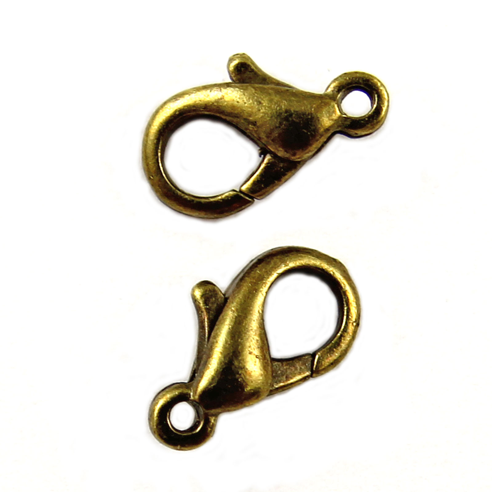50-Metal-LOBSTER-CLAW-CLASPS-Bronze-Gold-SILVER-PLATED-10mm-12mm-14mm