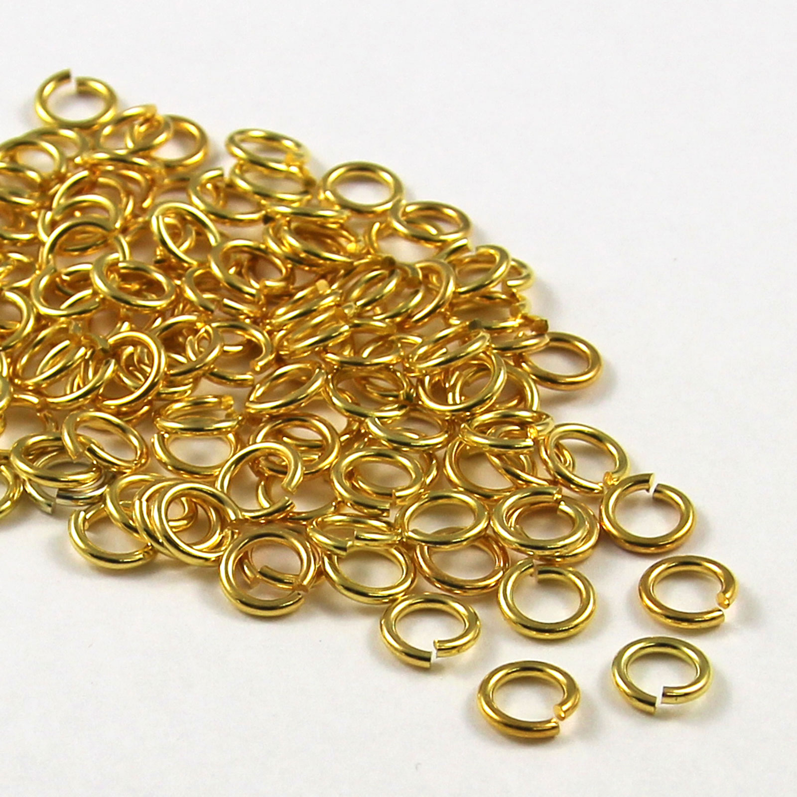 100-Gold-SILVER-PLATED-Metal-SUPER-STRONG-JUMP-RINGS-6-7-8-9-10mm