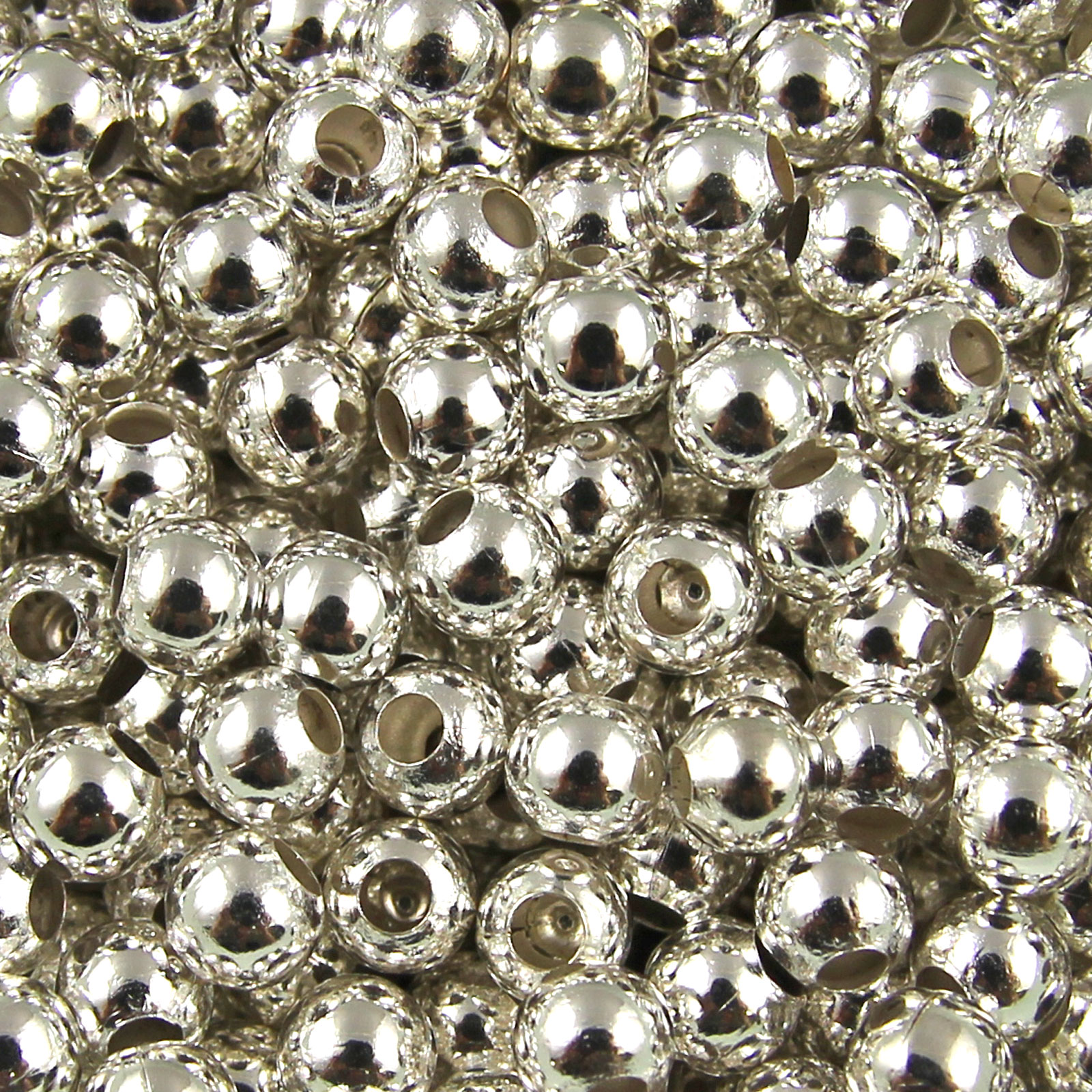 100-to-1000-Bronze-Gold-amp-Silver-Plated-Metal-Round-Spacer-Beads-2mm-to-8mm