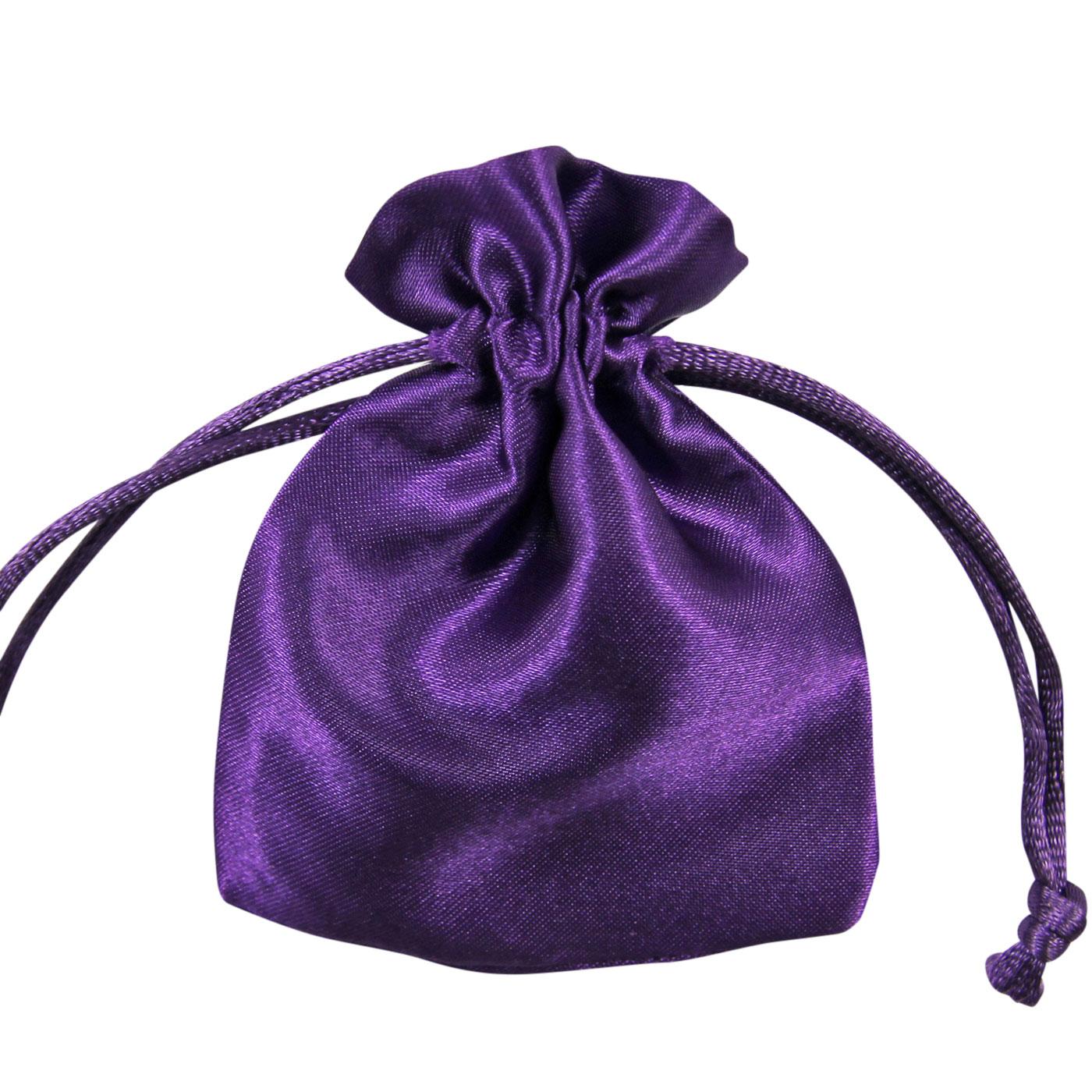 Satin jewellery drawstring gift bag favour xmas pouches