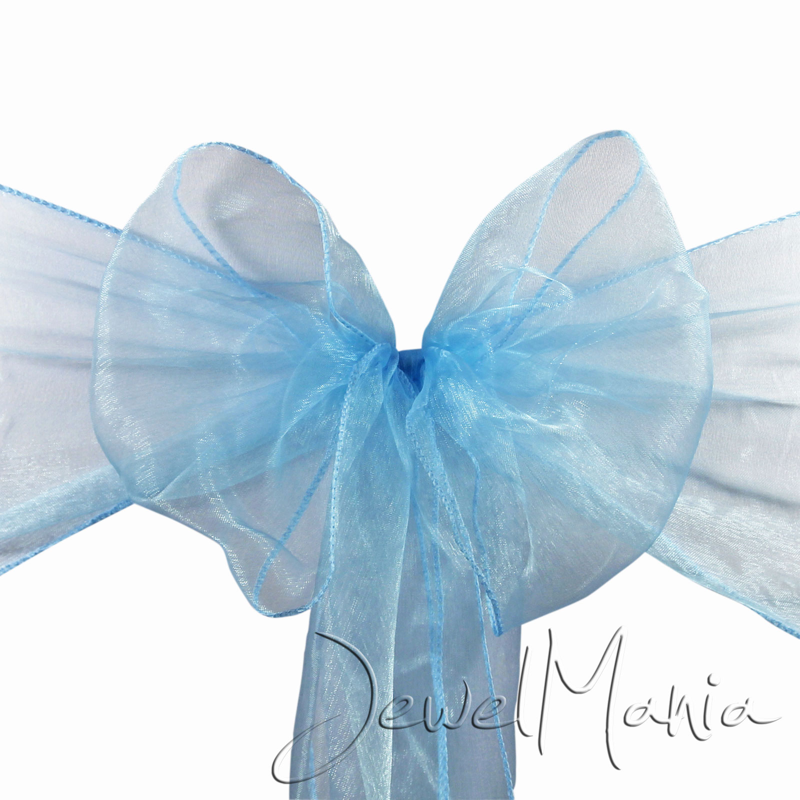 Chair Cover Bows 1 10 25 50 100 organza sashes chair cover bows wedding party wider