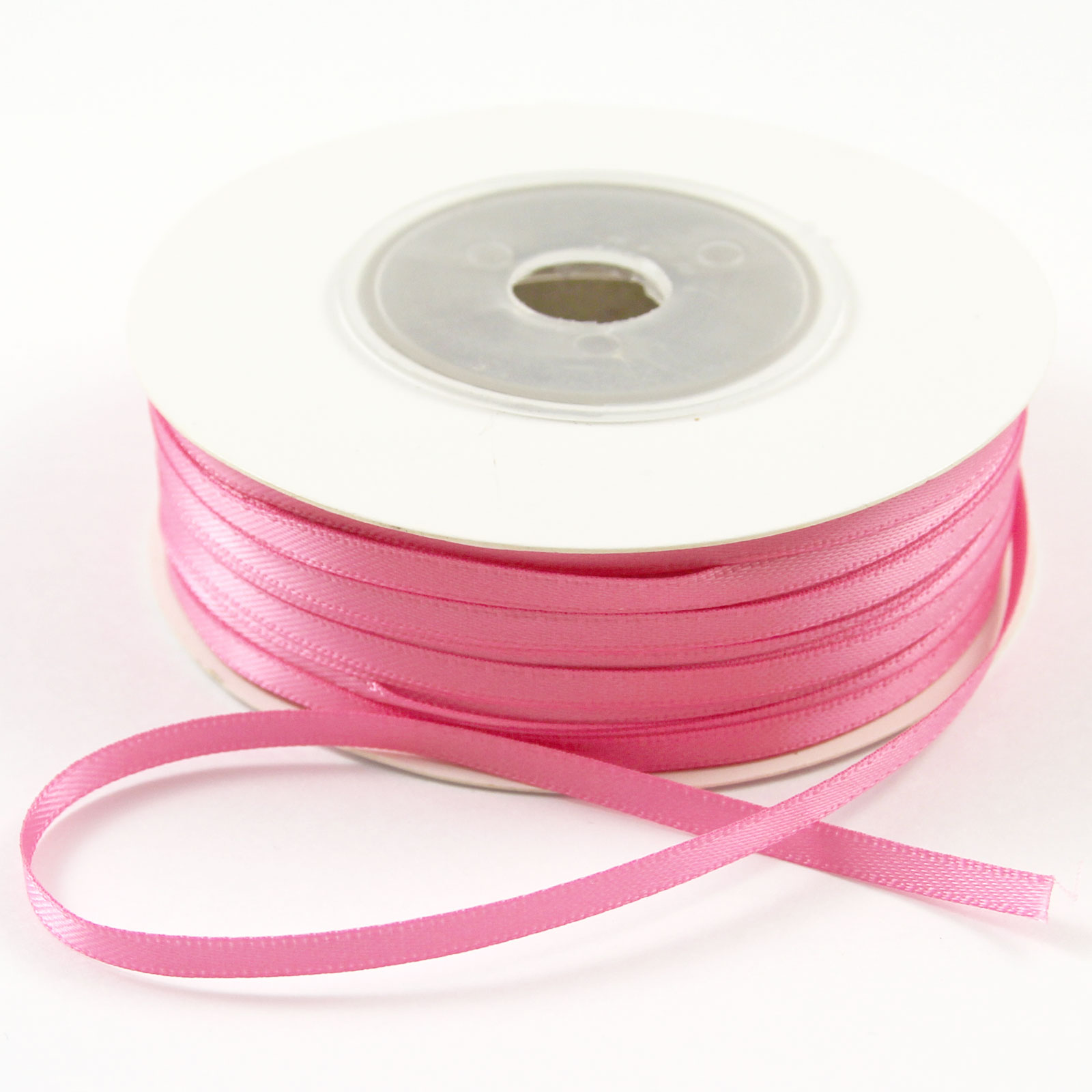 50-Metres-Of-3mm-1-8-DOUBLE-FACED-Sided-SATIN-RIBBON-Reel-Many-Colours
