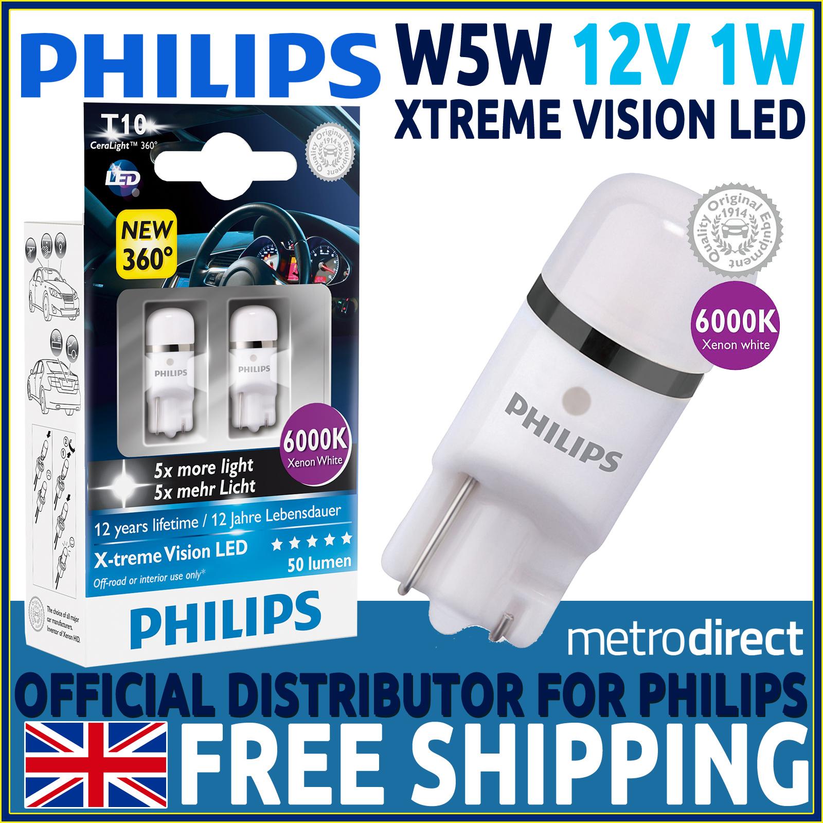 philips x treme vision 360 led w5w 501 t10 led car bulbs. Black Bedroom Furniture Sets. Home Design Ideas