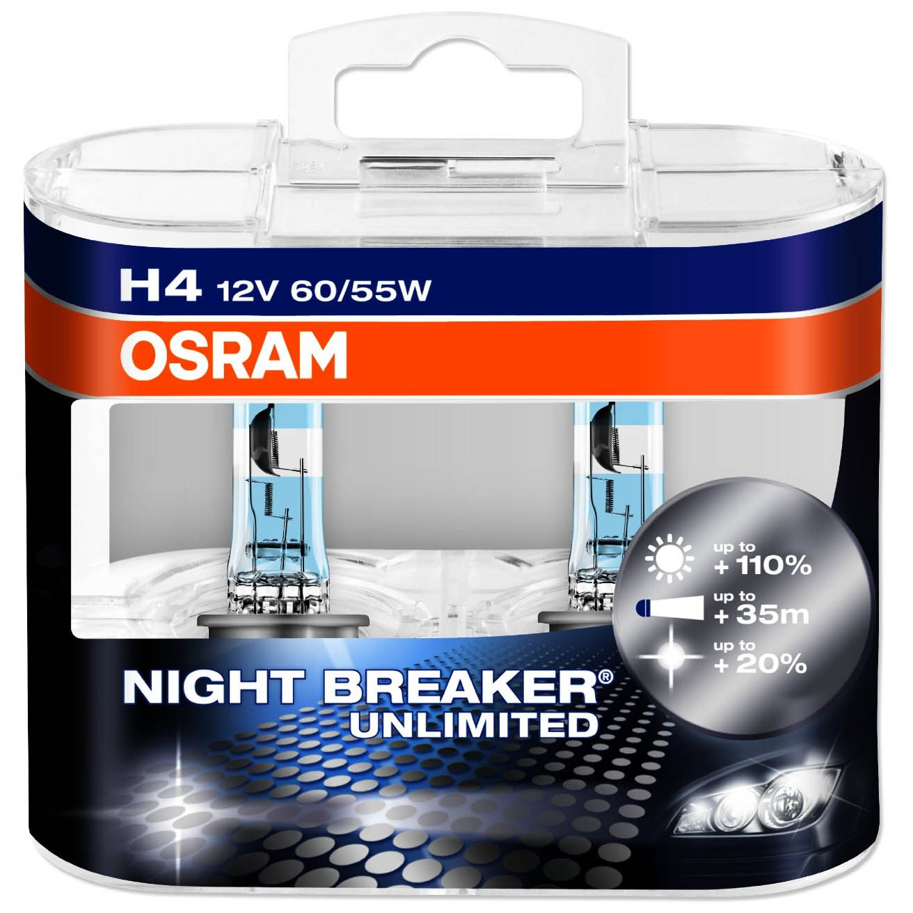 osram night breaker unlimited car bulbs h1 h3 h4 h7 h11. Black Bedroom Furniture Sets. Home Design Ideas