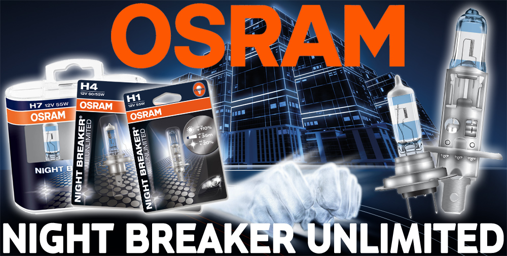 osram night breaker unlimited plus 110 more light h7 headlight bulbs twin ebay. Black Bedroom Furniture Sets. Home Design Ideas