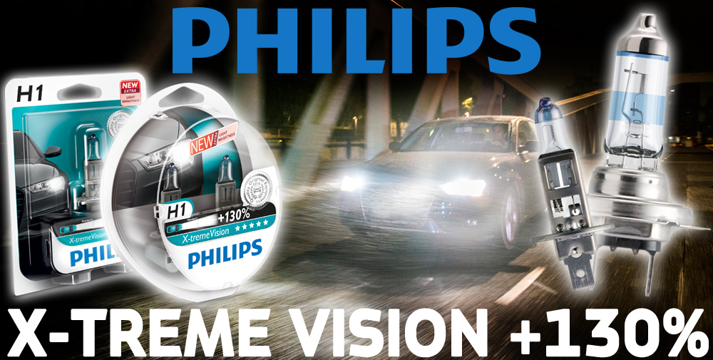 philips xtreme vision 130 more light h7 headlight bulbs. Black Bedroom Furniture Sets. Home Design Ideas