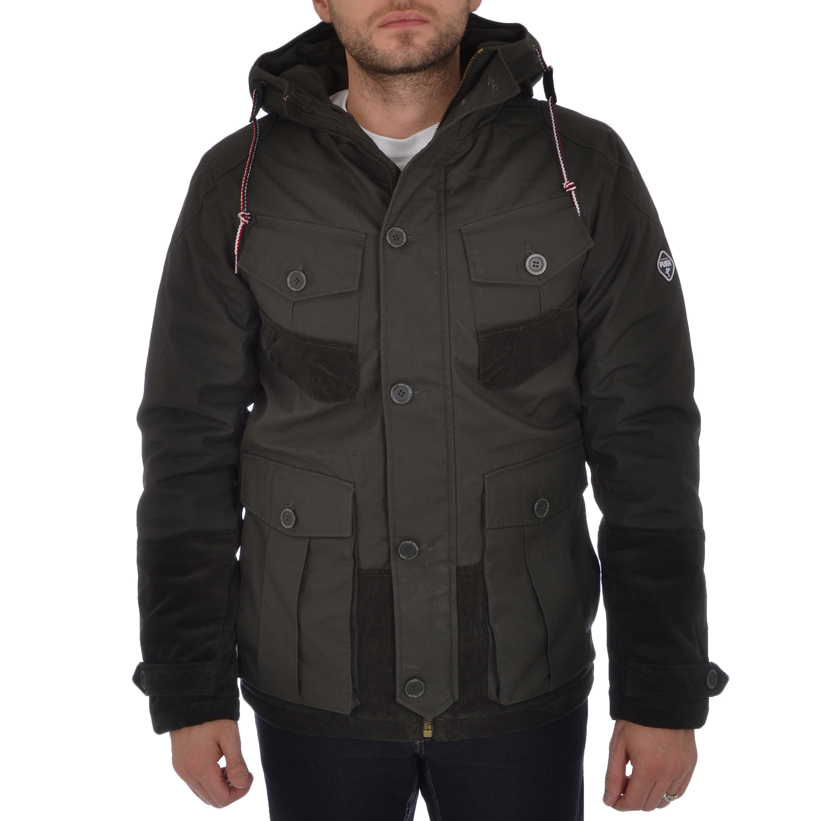 Puffa Mens Aiden Heavyweight Hooded Jacket Smart Casual Winter ...