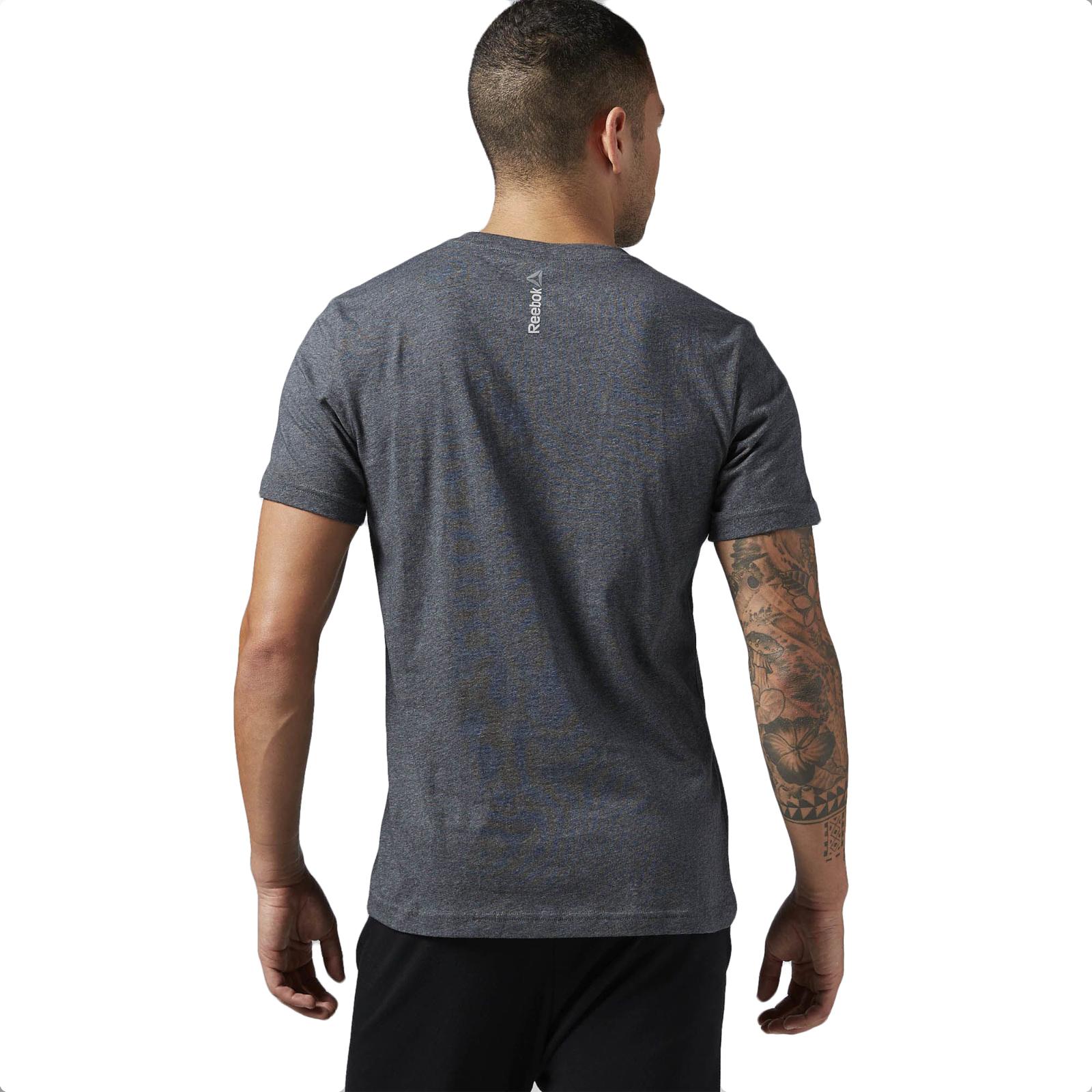Reebok Usa Logo Mens T Shirt Short Sleeve Gym Training Tee