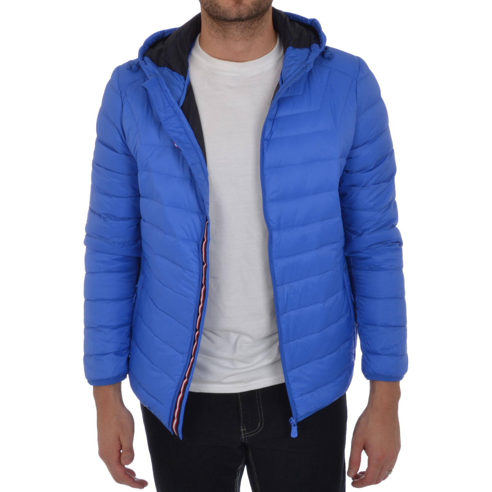 Puffa Mens Lightweight Down Jacket Hooded Padded Bomber Coat | eBay
