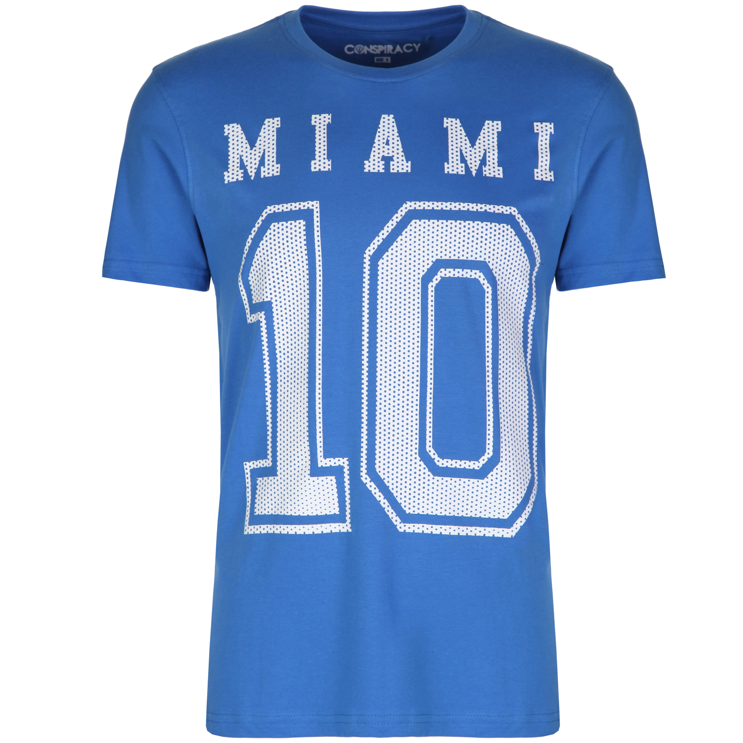 Conspiracy mens miami graphic short sleeve t shirt tee top for Miami t shirt printing