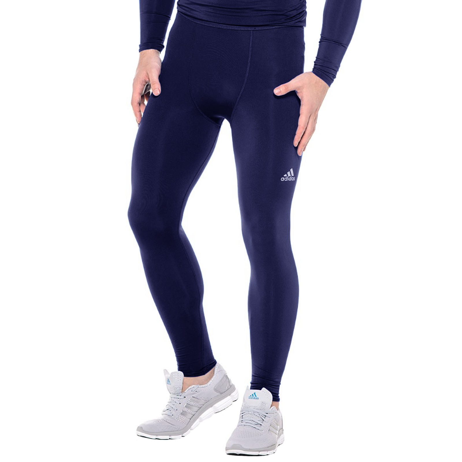 adidas performance men 39 s compression techfit base layer long tights ebay. Black Bedroom Furniture Sets. Home Design Ideas