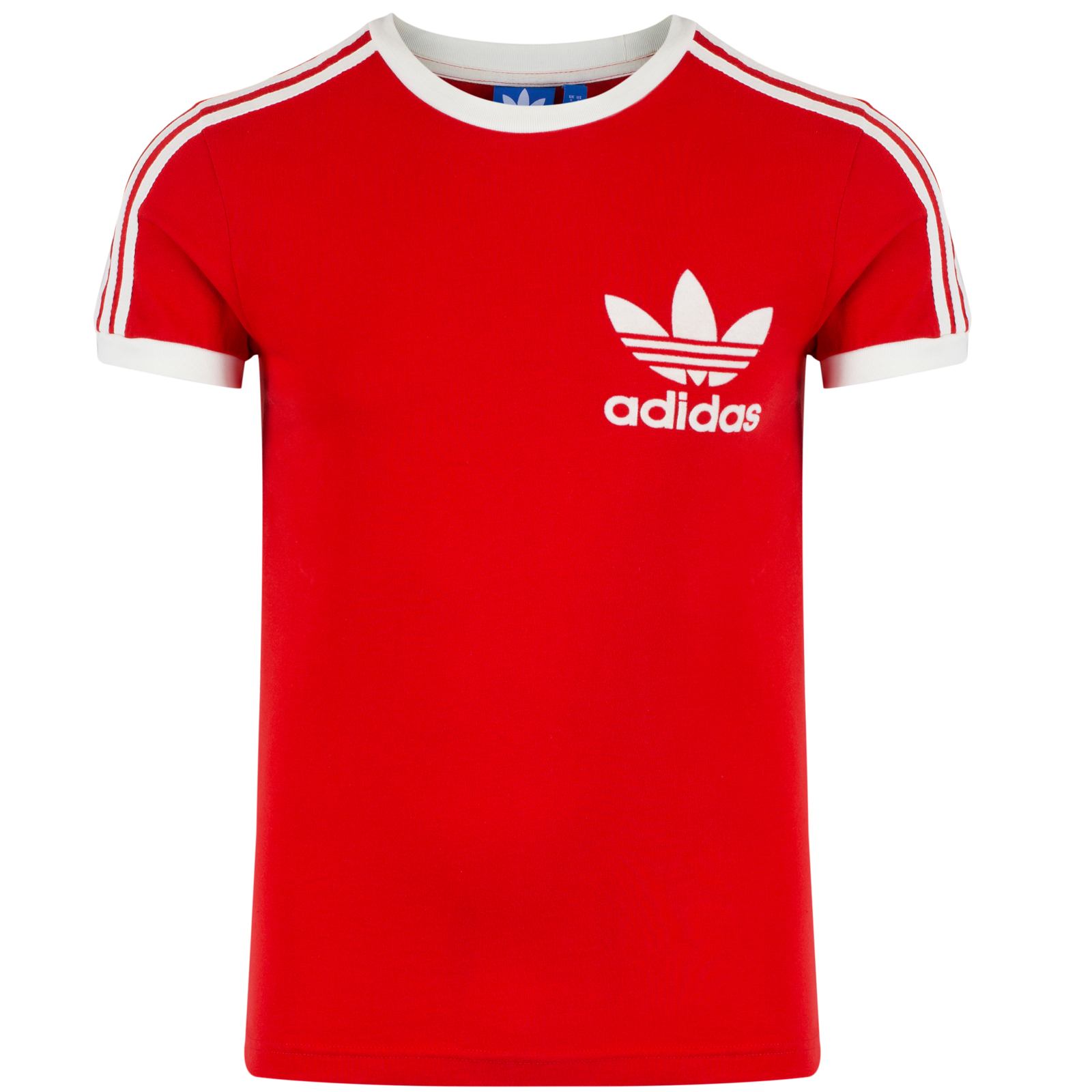 Adidas originals mens trefoil logo 3 stripe t shirt retro for Adidas lotus t shirt