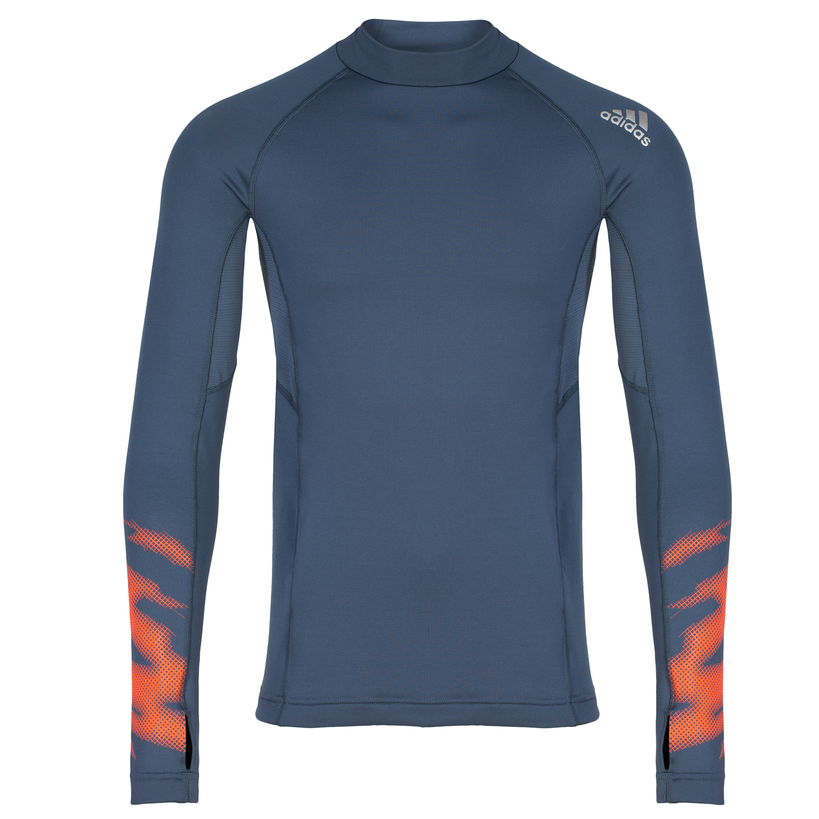 Adidas Performance Mens Long Sleeve Mock Running Top