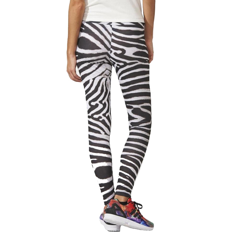 Adidas Originals Womens Zebra Print Leggings Pants Gym Training Bottoms