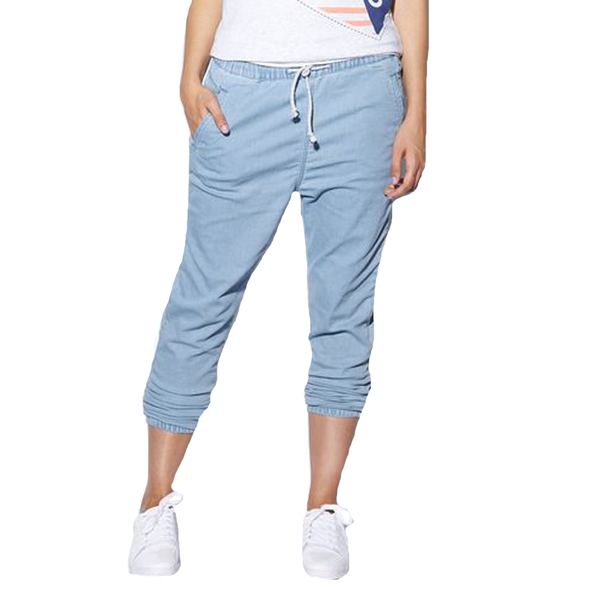 Creative Womenu0026#39;s Destroyed Denim Jogger Pants | EBay