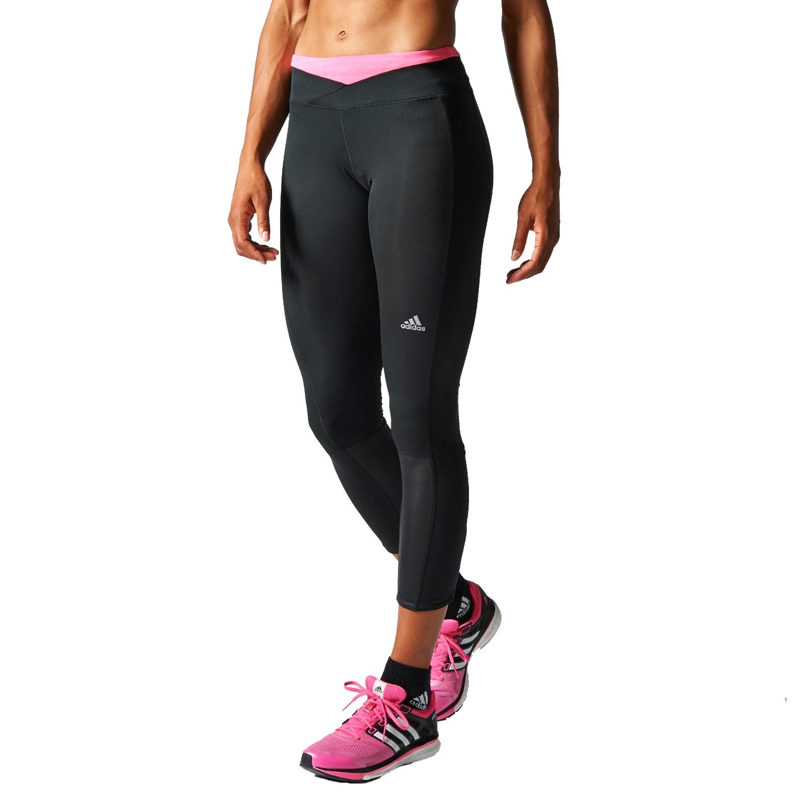 adidas performance womens supernova long running gym training leggings black ebay. Black Bedroom Furniture Sets. Home Design Ideas