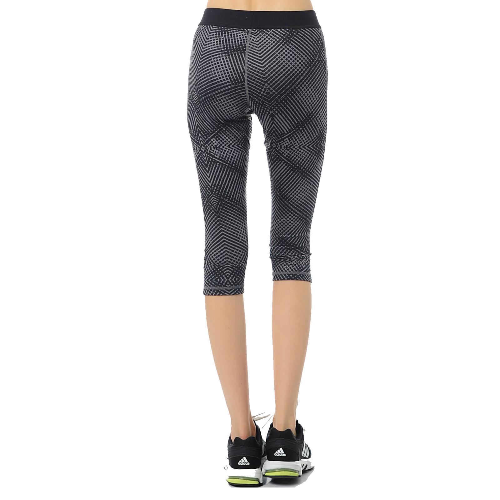 adidas performance womens techfit capri 3 4 global training gym leggings pants ebay. Black Bedroom Furniture Sets. Home Design Ideas