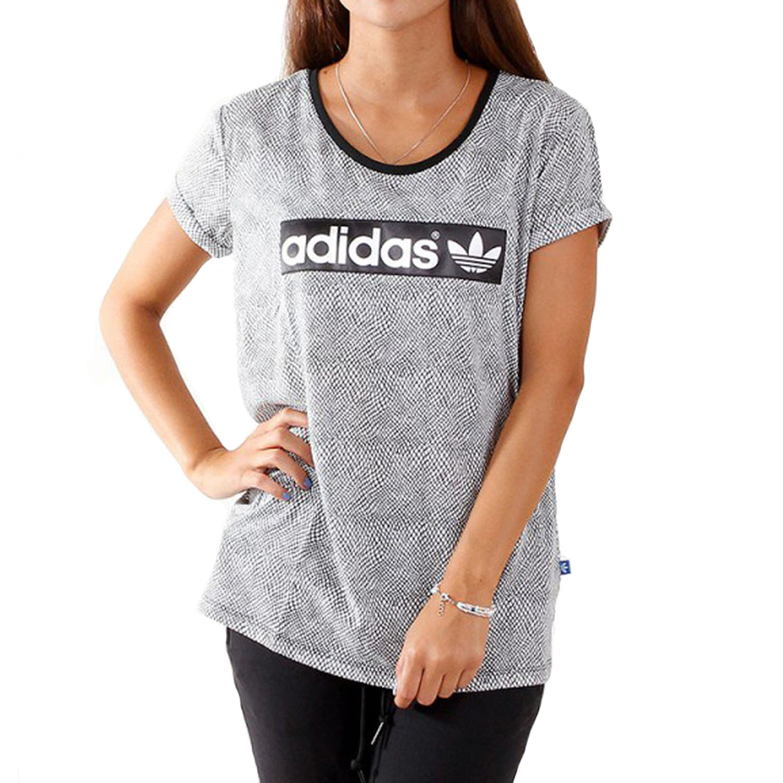 adidas originals womens logo t shirt short sleeve tee top black. Black Bedroom Furniture Sets. Home Design Ideas