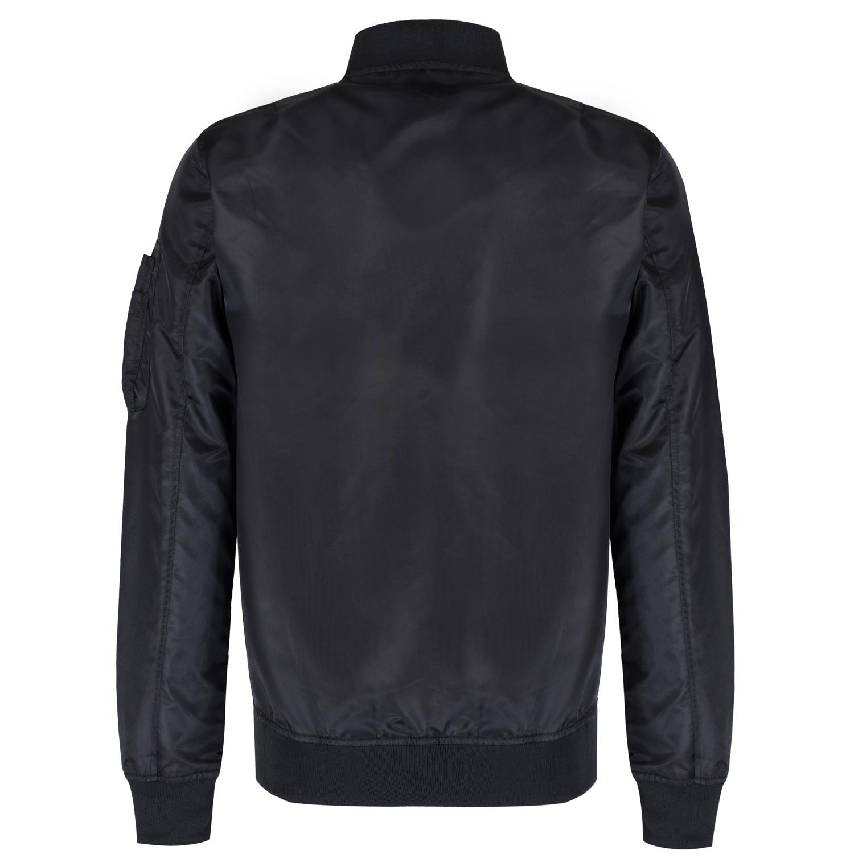 Brave Soul Mens Nylon Lightweight MA1 Bomber Jacket Full Zip Coat ...