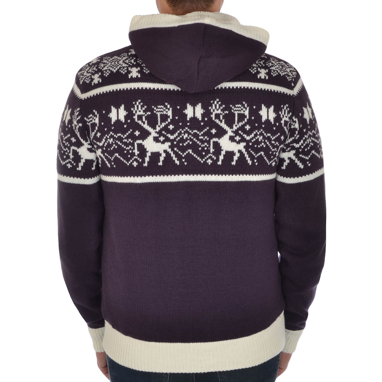Knitting Patterns Mens Xmas Jumpers : Soul Star Mens Knitted Zip Up Hooded Cardigan Christmas Jumper Sweater Top ...
