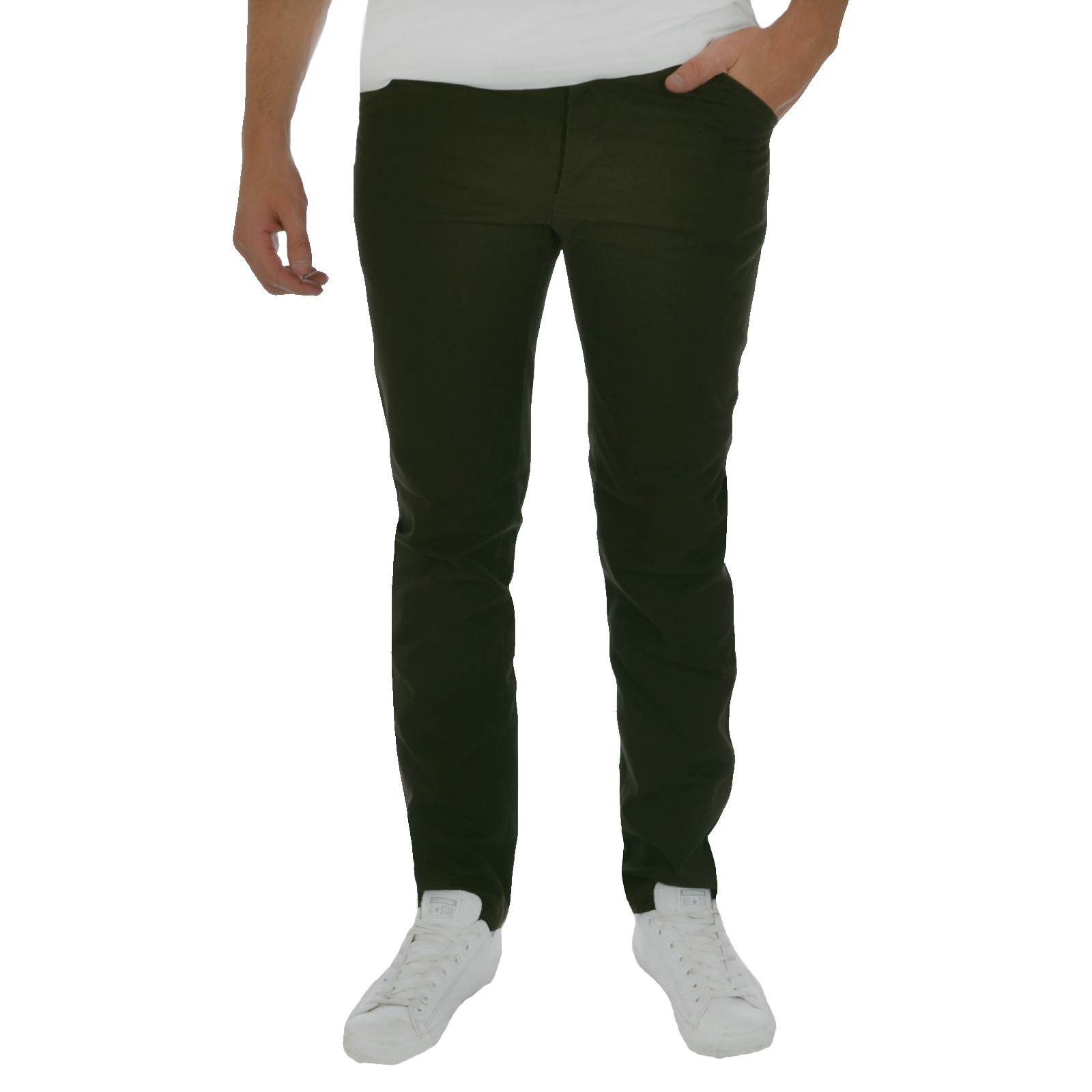 twisted faith mens slim fit cotton chinos trousers casual
