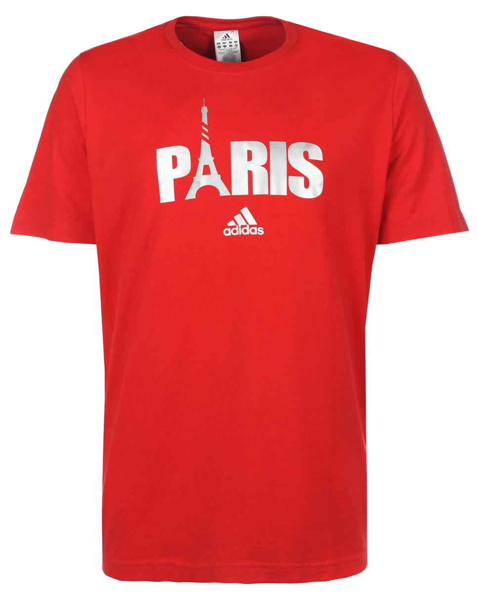 adidas Performance Mens Short Sleeve Crew Neck Paris City T-Shirt Top New