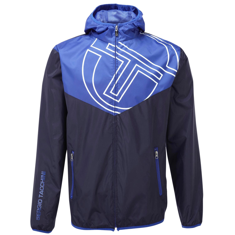 sergio tacchini mens hooded windbreaker jacket coat. Black Bedroom Furniture Sets. Home Design Ideas